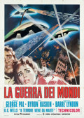 """Movie Posters:Science Fiction, The War of the Worlds (Paramount, R-1973). Folded, Fine/Very Fine. Italian 4 - Fogli (55"""" X 77.5"""").. ..."""