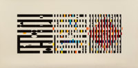 Yaacov Agam (b. 1928) Untitled, late 20th century Screenprint in colors on smooth wove paper 18-5