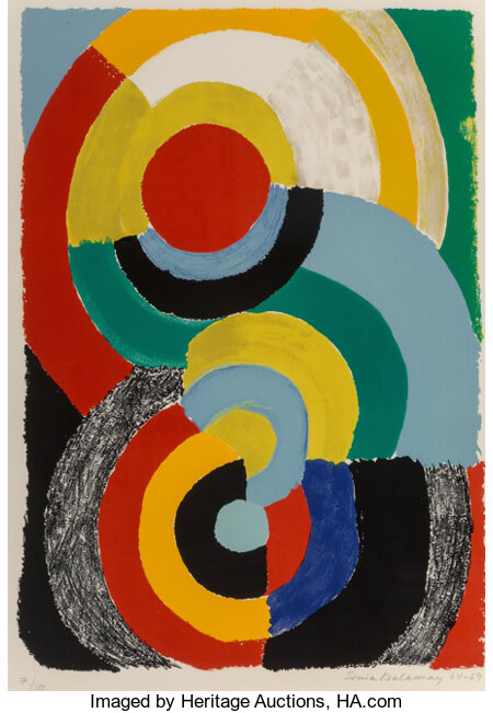 Sonia Delaunay (1885-1979) Recontre, 1964-69 Lithograph in colors on wove paper 26 x 19-3/4 inches (66 x 50.2 cm) (sh...