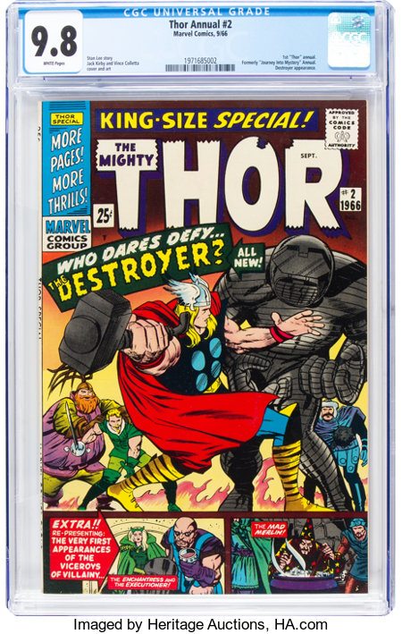 Thor Annual #2 (Marvel, 1966) CGC NM/MT 9.8 White pages....
