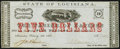 Obsoletes By State:Louisiana, Alexandria, LA- Parish of Rapides $5 Feb. 8, 1862 Choice About Uncirculated.. ...