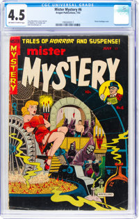Mister Mystery #6 (Aragon, 1952) CGC VG+ 4.5 Off-white to white pages