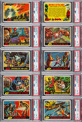 Non-Sport Cards:Sets, 1962 Topps Mars Attacks High Grade Complete Set (55)....