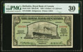 Barbados Royal Bank of Canada 5 Dollars = (£1-0-10) 3.1.1938 Pick S181 Ch.# 630-30-02 PMG Very Fine 30