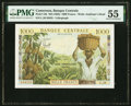 World Currency, Cameroon Banque Centrale 1000 Francs ND (1962) Pick 12b PMG About Uncirculated 55.. ...