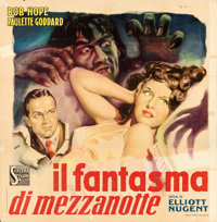 """The Cat and the Canary (Scalera Film, 1945). Folded, Fine+. First Post-War Release Italian Poster (55"""" X 56.5""""..."""