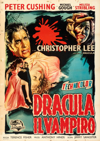 "Horror of Dracula (Universal International, 1958). Folded, Fine+. Italian 2 - Fogli (39.5"" X 55.25"")"