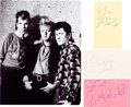 Music Memorabilia:Autographs and Signed Items, Stray Cats Signatures (Three). ...