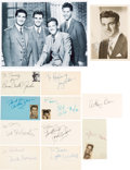 Movie/TV Memorabilia:Autographs and Signed Items, The Untouchables Cast Autograph Collection (Eleven). ...