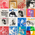 Music Memorabilia:Recordings, Bob Dylan Collection of 7-Inch Singles from Portugal (16).... (Total: 16 Items)