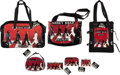 """Music Memorabilia:Memorabilia, The Beatles """"Abbey Road"""" Group of Seven Items Red Luggage/Bag Set With Hang Tags (7) (2007).... (Total: 7 Items)"""