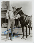 Movie/TV Memorabilia:Autographs and Signed Items, Chuck Connors Signed Photo as Lucas McCain from The Rifleman. ...