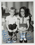 Movie/TV Memorabilia:Autographs and Signed Items, [Dennis the Menace] Photo Signed by Jay North as Dennis and Jeannie Russell as Margaret. ...