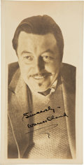 Movie/TV Memorabilia:Autographs and Signed Items, [Charlie Chan] Warner Oland Signed Vintage Photo as Chan. ...