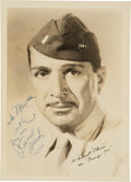 Movie/TV Memorabilia:Autographs and Signed Items, J. Carrol Naish Signed Vintage Photo from Gung Ho! (1943). ...