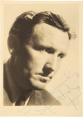 Movie/TV Memorabilia:Autographs and Signed Items, Spencer Tracy Signed Vintage Photo. ...