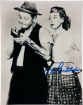 Movie/TV Memorabilia:Autographs and Signed Items, [The Honeymooners] Art Carney and Joyce Randolph Signed Photo as Ed and Trixie Norton. ...
