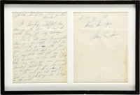 Marilyn Monroe Handwritten and Signed Two-Page Letter (1954)