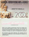 Movie/TV Memorabilia:Documents, Annette Funicello Motion Picture Academy Membership Card (2001)....