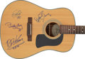 Music Memorabilia:Autographs and Signed Items, Chuck Berry, Eric Clapton, B.B. King, & Buddy Guy Signed Washburn Acoustic Guitar (1990s)....