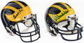 Football Collectibles:Helmets, President Gerald Ford & Bo Schembechler Single Signed Michigan Miniature Helmets, Lot 2....