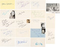 Movie/TV Memorabilia:Autographs and Signed Items, The Patty Duke Show Cast Autograph Collection (Eighteen). ...
