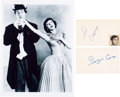 Movie/TV Memorabilia:Autographs and Signed Items, Your Show of Shows Cast Autograph Collection (Two). ...