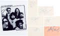 Music Memorabilia:Autographs and Signed Items, The Doobie Brothers Collection of Signatures. ...