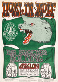Music Memorabilia:Posters, FD-27 Howlin' Wolf, Janis Joplin w/Big Brother 1966 Family Dog Concert Poster....