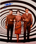 Movie/TV Memorabilia:Autographs and Signed Items, Time Tunnel Color Photo Signed by Darren, Colbert, and Meriwether. ...