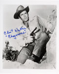 Movie/TV Memorabilia:Autographs and Signed Items, Clint Walker Signed Photo as Cheyenne Bodie. ...