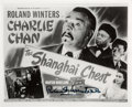 Movie/TV Memorabilia:Autographs and Signed Items, [Charlie Chan] Roland Winters Signed Lobby Card Reproduction from The Shanghai Chest. ...