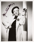 Movie/TV Memorabilia:Autographs and Signed Items, Marlene Dietrich Signed Glamor Pose Photo. ...