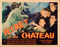 """Secret of the Chateau (Universal, 1934). Rolled, Very Fine-. Half Sheet (22"""" X 28"""")"""