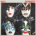 Music Memorabilia:Autographs and Signed Items, Kiss Signed Dynasty Reissue Vinyl LP (Casablanca/UMe B0019820-01)....