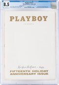 Movie/TV Memorabilia:Autographs and Signed Items, Playboy V16#1 Signed by Hugh Hefner (HMH Publishing, 1969) CGC VF+ 8.5 White pages....