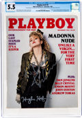 Movie/TV Memorabilia:Autographs and Signed Items, Playboy V32#9 (HMH Publishing, 1985) CGC FN- 5.5 Off-white to white pages....