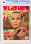 Movie/TV Memorabilia:Autographs and Signed Items, Playboy V41#12 Signed by Bo Derek (HMH Publishing, 1994) CGC FN 6.0 White pages....