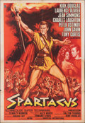 "Movie Posters:Action, Spartacus (Universal International, 1962). Folded, Fine+. First Release Italian 4 - Fogli (55"" X 78""). Action.. ..."