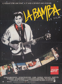 "La Bamba (Warner-Columbia Film, 1987). Folded, Fine/Very Fine. Autographed French Grande (45.75"" X 62""). Drama..."