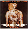 """Movie Posters:James Bond, Goldfinger (United Artists, 1964). Very Fine+ on Linen. Six Sheet (78.25"""" X 80.75"""").. ..."""