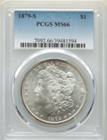 Morgan Dollars: , 1879-S $1 MS66 PCGS. PCGS Population: (7968/1787). NGC Census: (7421/2184). CDN: $175 Whsle. Bid for NGC/PCGS MS66. Mintage...