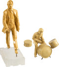 Music Memorabilia:Memorabilia, The Beatles Ringo Starr Two Prototypes Abbey Road Statue & Ringo Starr with Drums by Gartlan USA, (2)....
