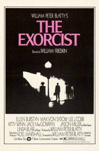"The Exorcist (Warner Bros., 1974). Folded, Very Fine+. Studio Style One Sheet (27"" X 41"")"
