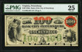 Obsoletes By State:Virginia, Petersburg, VA- Bank of the City of Petersburg $100 May 1. 1861 G10b J-L BP25-40 PMG Very Fine 25.. ...