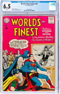 World's Finest Comics #89 (DC, 1957) CGC FN+ 6.5 White pages