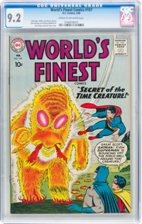 World's Finest Comics #107 (DC, 1960) CGC NM- 9.2 Cream to off-white pages