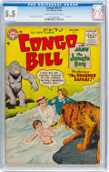 Golden Age (1938-1955):Miscellaneous, Congo Bill #7 (DC, 1955) CGC FN- 5.5 Cream to off-white pages....