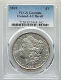 Morgan Dollars: , 1893 $1 -- Cleaning -- PCGS Genuine. AU Details. Mintage 389,792. ...