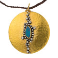 Estate Jewelry:Necklaces, Diamond, Opal, Gold, Silver, Cord Pendant-Necklace. ...